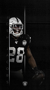 JOSH JACOBS INSTAGRAM WALLPAPER, Oakland Raiders