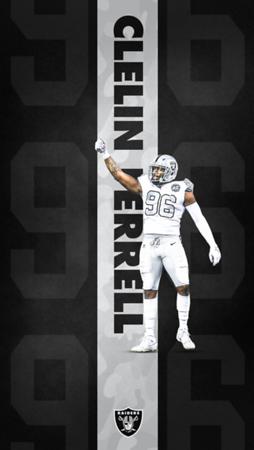 CLELIN FERRELL INSTAGRAM WALLPAPER, Oakland Raiders