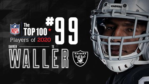 DARREN WALLER TOP 100 PLAYERS OF 2020, Las Vegas Raiders