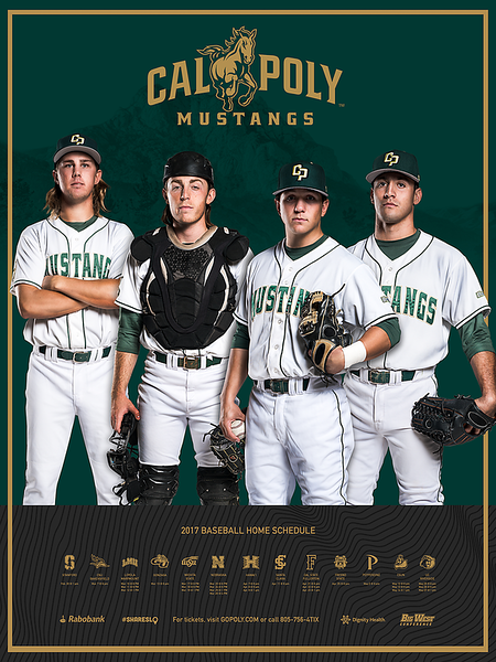 PRINT POSTER SCHEDULE, Cal Poly Baseball