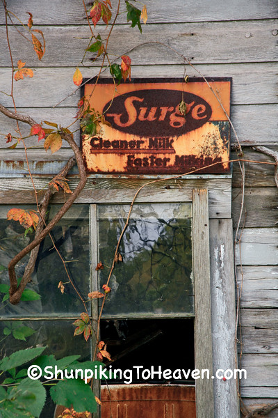 Rusty Surge Sign, Franklin County, Iowa