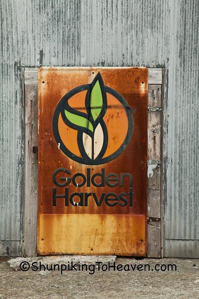 Golden Harvest Sign, Garrard Mills, Lancaster, Kentucky