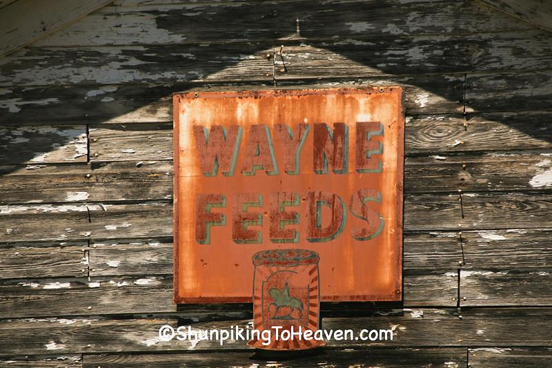 Wayne Feeds Sign, Kalamazoo County, Michigan