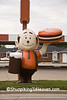 Old A&W Papa Burger Statue at The Root Beer Stand, LaSalle County, Illinois