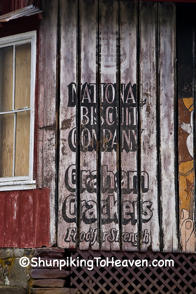 C.W. Burleson General Store with Advertising Mural for National Biscuit Company (Nabisco), Avery County, North Carolina
