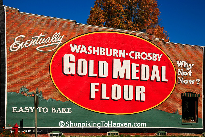 Gold Medal Flour Sign on Former Limp's Grocery Store  (Built 1908), Monroe County, Wisconsin