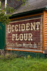 Vintage Occident Flour Sign, Gogebic County, Michigan