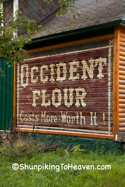 Vintage Occident Flour Sign, Gogebic County, Michigan
