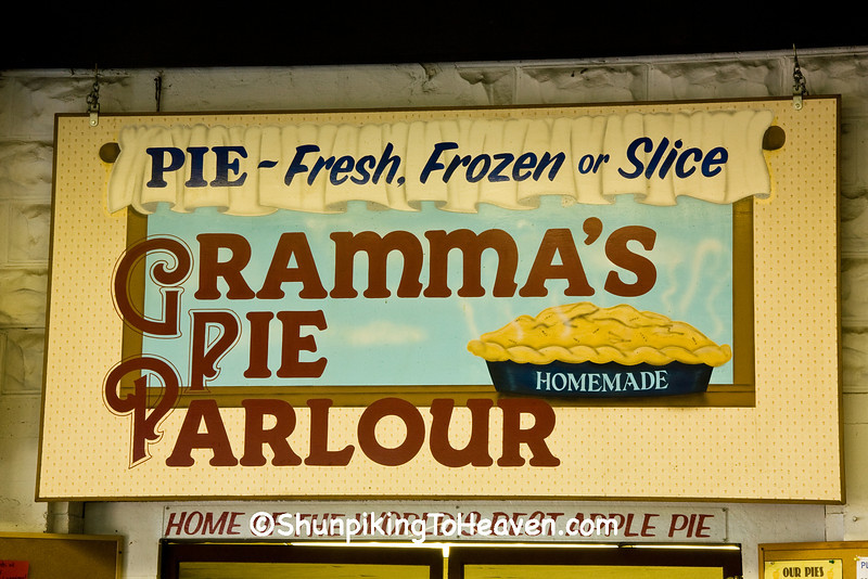 """Gramma's Pie Parlour"" Sign at Ski-Hi Fruit Farm, Sauk County, Wisconsin"