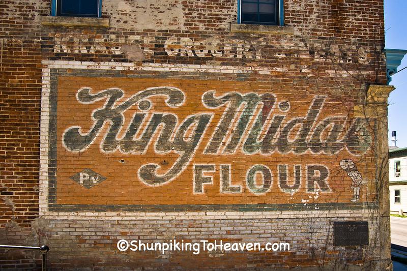 King Midas Flour Sign, Dane County, Wisconsin