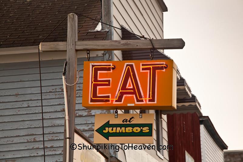 Eat at Jumbos Sign, Ashland County, Wisconsin