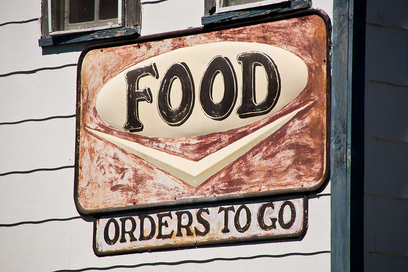 Food Orders to Go Sign, Patrick County, Virginia