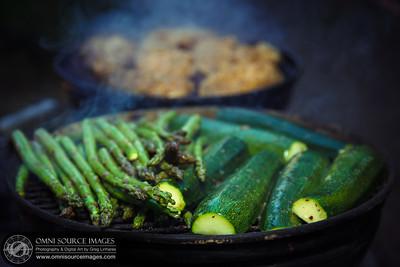 Smokey Joe BBQ Grilled Veggies and Chicken