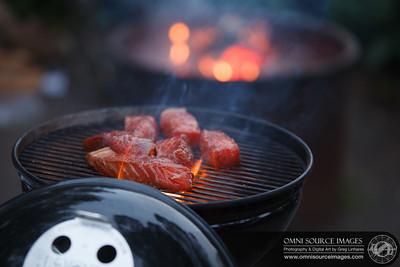 Fresh, Wild, Marinated Salmon on the Grille!