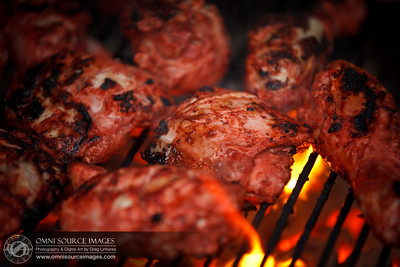 Grilling Tandoori Chicken at Home on 9/4/2011.