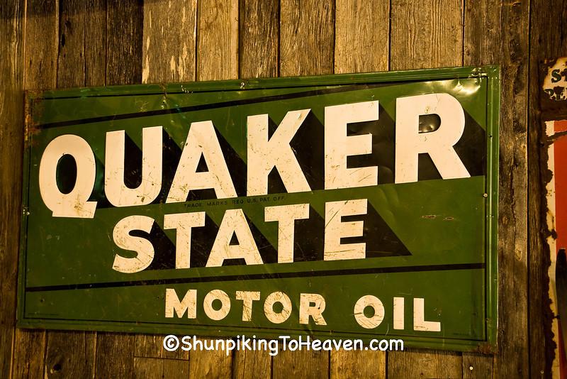 Vintage Quaker State Motor Oil Sign, Johnson County, Arkansas