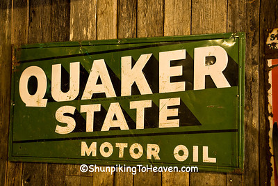 Vintage Quaker State Motor Oil Sign, Johnson County, Arkansas