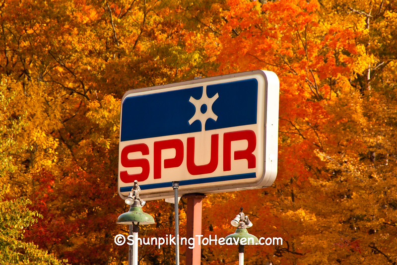 Vintage Spur Gasoline Sign, Hillmans Store, Sawyer County, Wisconsin