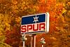 Vintage Spur Gasoline Sign, Hillmans Store, Sawyer County, Wisconsin