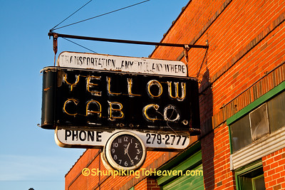 Yellow Cab Co. Neon Sign, Buchanan County, Missouri