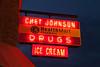 Chet Johnson Drugs Neon Sign, Amery, Wisconsin
