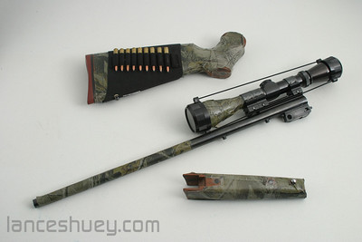 """223 Rem 21"""" barrel with Leupold 3x9 Vari-X II scope, stock, forgrip and ammo sleeve. Ammo not included in any sale."""