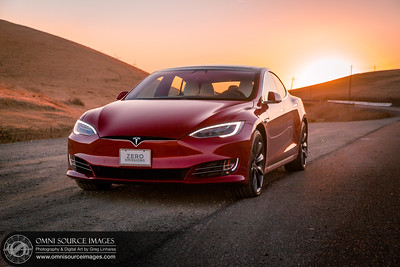 Tesla Model S Altamont Sunrise by Greg Linhares