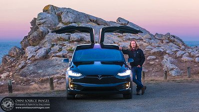 Tesla Model X 100D Coastal Sunrise - Greg Linhares