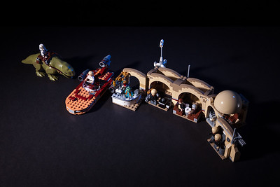 Lego Star Wars Cantina. Built this with my eight year old daughter and photographed it in our livingroom with two studio lights.