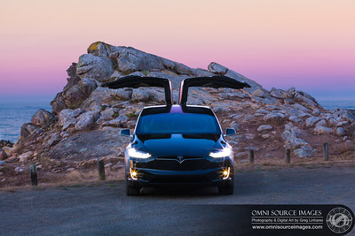 Tesla Model X 100D Coastal Sunrise