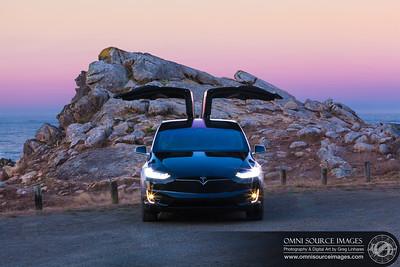 Tesla Model X 100D Coastal Sunrise