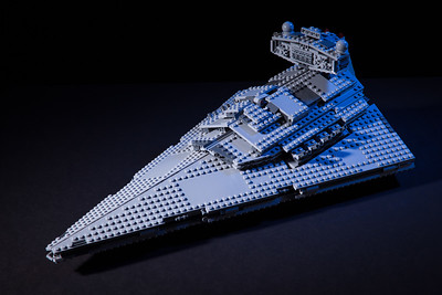 Lego Star Wars Star Destroyer. Built this with my eight year old daughter and photographed it in our livingroom with two studio lights.