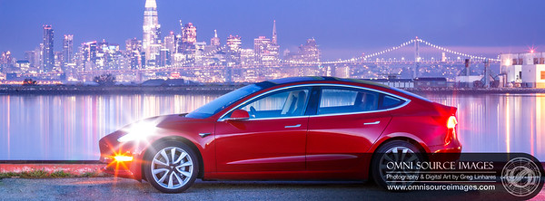 Tesla Model 3 San Francisco Twilight
