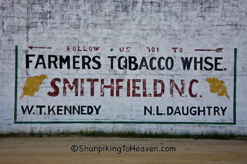 Farmers Tobacco Warehouse Sign, Sampson County, North Carolina