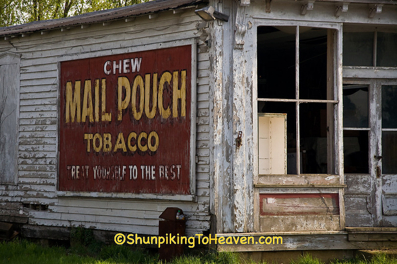 Mail Pouch Tobacco Sign on Old Store, Guernsey County, Ohio
