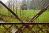 Mail Pouch Tobacco Barn Through Metal Truss Bridge, Monroe County, Ohio