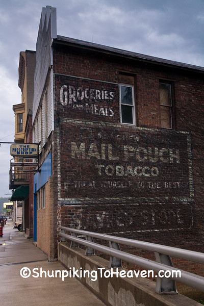 Mail Pouch Tobacco Sign on Old Grocery, Athens County, Ohio