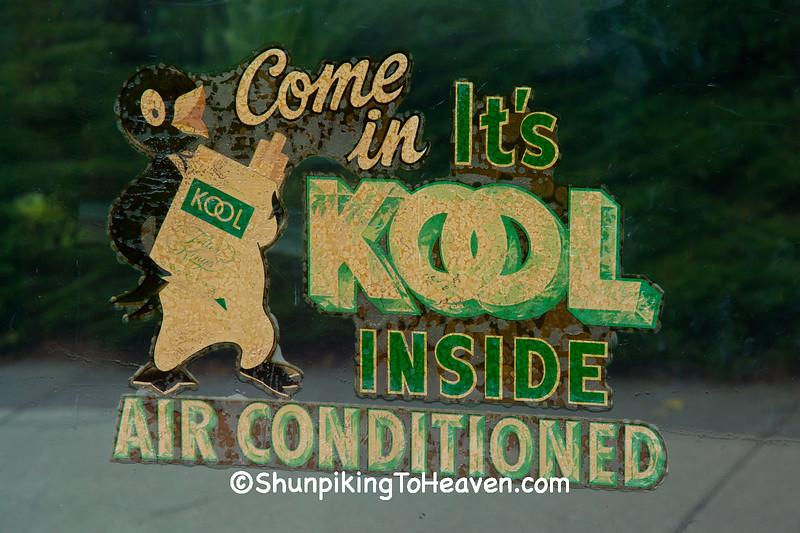 Kool Cigarette Window Decal, Ackley, Iowa
