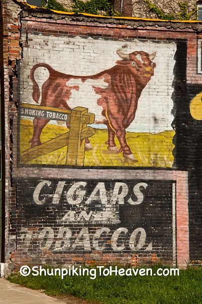 Uncovered Bull Durham Mural, Ackley, Iowa