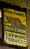 Antique Red Coon Chewing Tobacco Sign, Boone County, Kentucky