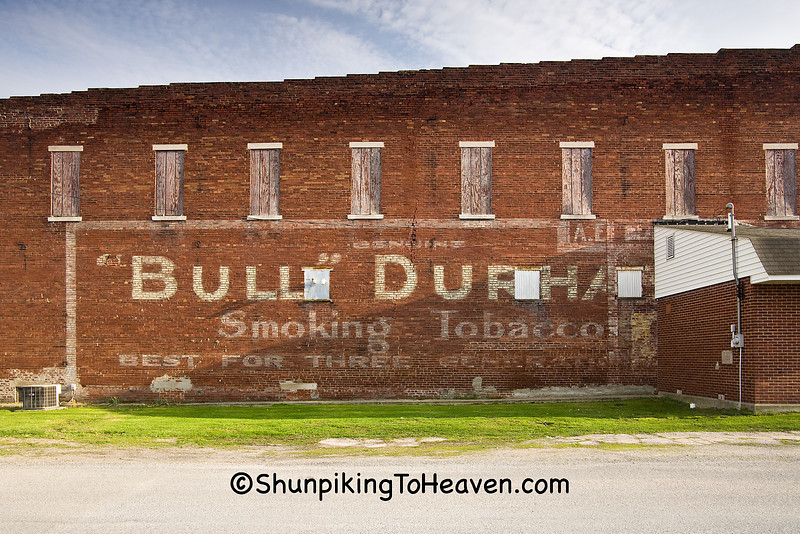 Bull Durham Ghost Sign, Coles County, Illinois