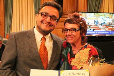 David Campos and the individual he choose to honor - Laura Guzman.