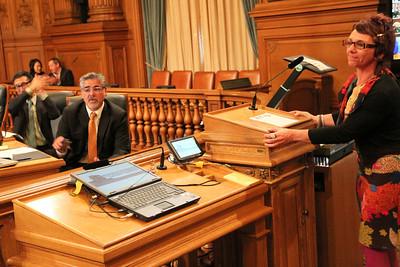 Laura Guzman addresses the supervisors.