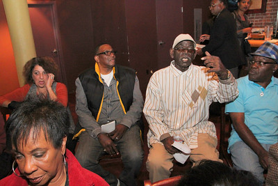 Naim Harrison asks a question at the Black Leadership Forum on Prisoner Re-Entry, July 19th, 2013, Rasselas Jazz Club, 1534 Fillmore Street, San Francisco.  #SanFranciscoBlackLeadershipForum  #SFBlackLeadershipForum #BlackLeadershipForum