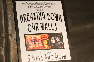 """Breaking Down Our Walls"" event flyer that was handed out to arriving guests."