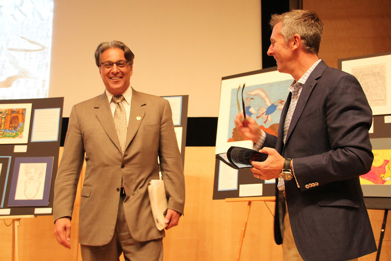 Sheriff Ross Mirkarimi discussing the event with 5 Keys Director, Steve Good.