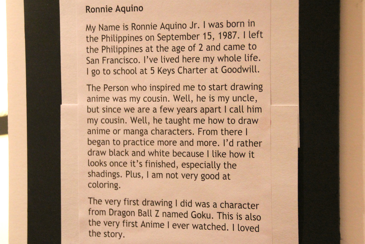 "A short biography of the inmate artist Ronnie Aquinio Jr. ""Goodwill""."