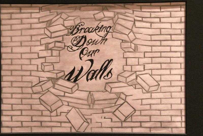 "Breaking Down Our Walls by Ronnie Aquinio Jr. AKA ""Goodwill""."