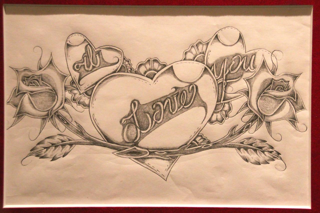I Love You by Juan Jose Rangel, San Francisco County Jail 6 inmate and artist.