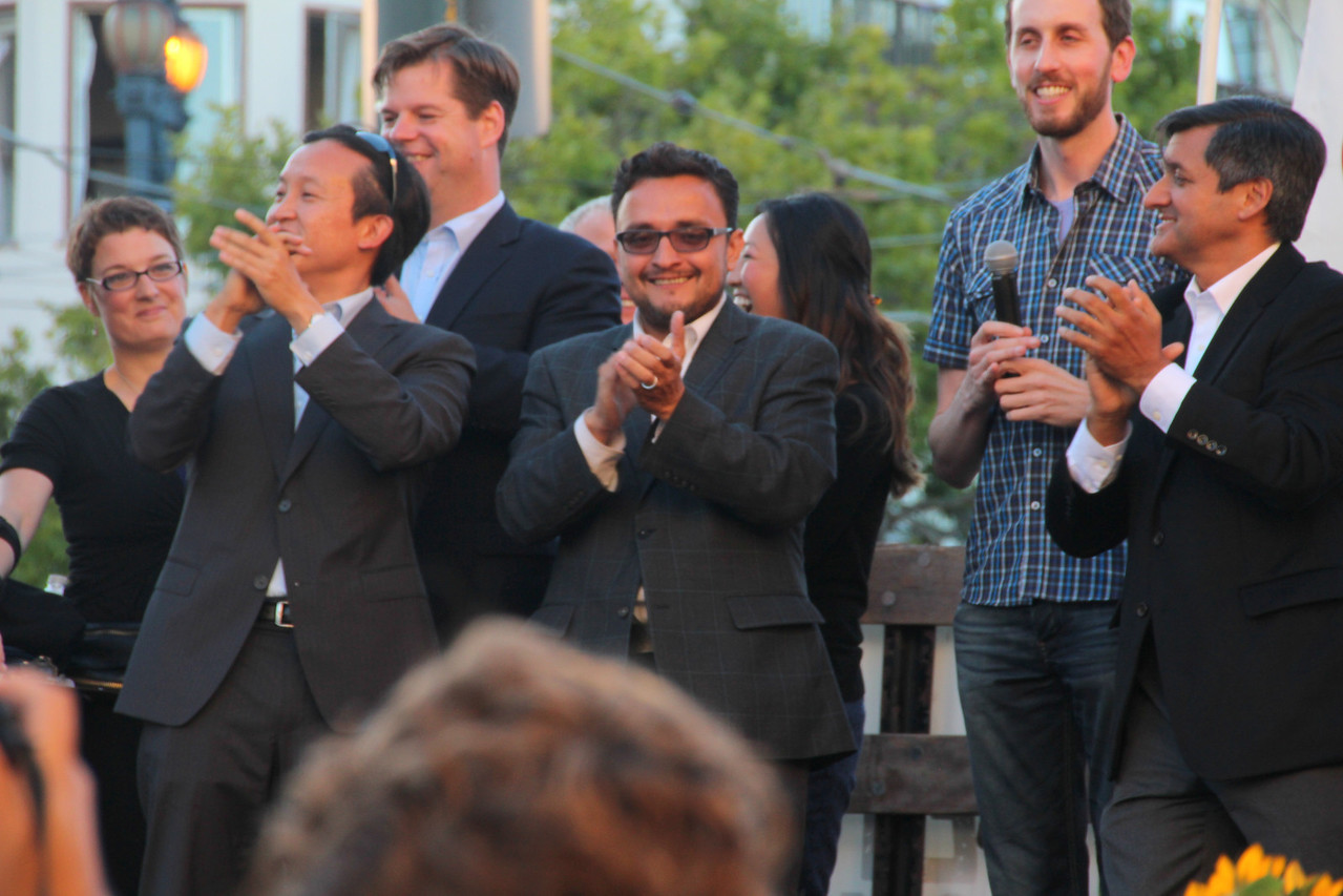 David Chiu, Mark Farrell, David Campos, Scott Wiener and Jose Cisneros at Castro.